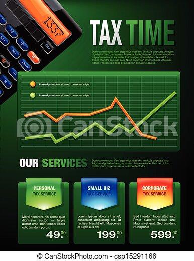 opuscolo, tassa, finanze, affari - csp15291166