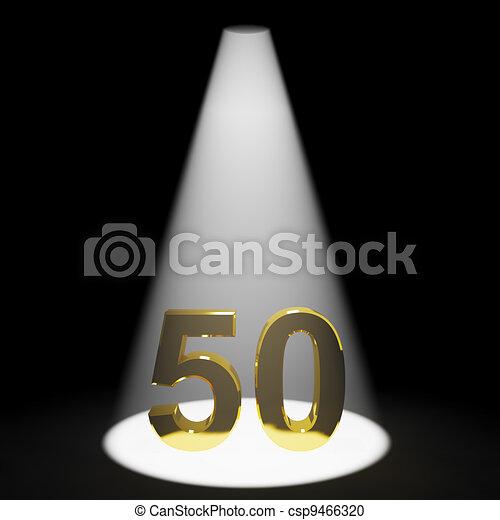 or, 50th, nombre, anniversaire, anniversaire, représenter, ou, 3d - csp9466320