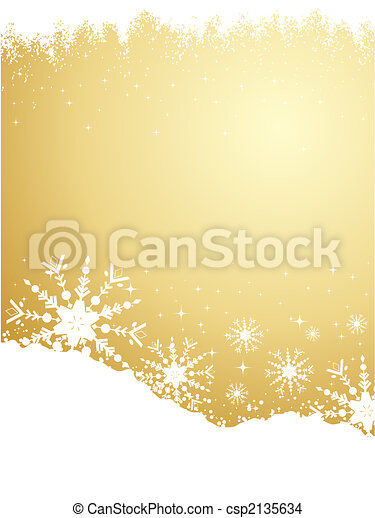 or, flocon de neige, fond - csp2135634