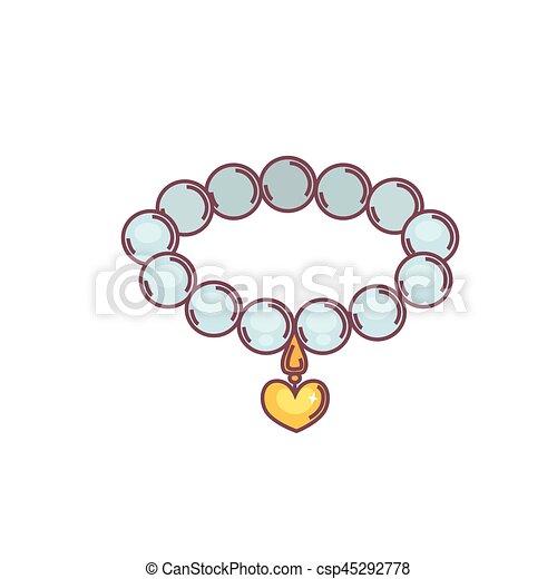 dessin de collier de perle