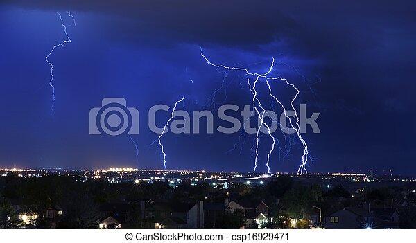orage, éclair - csp16929471