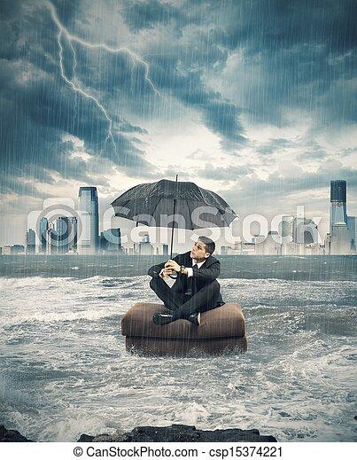 orage, crise, business - csp15374221
