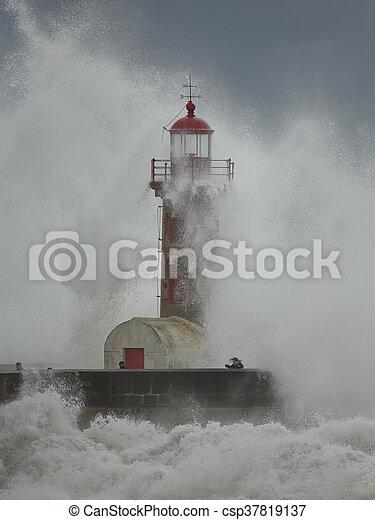 orage, oporto, grand - csp37819137