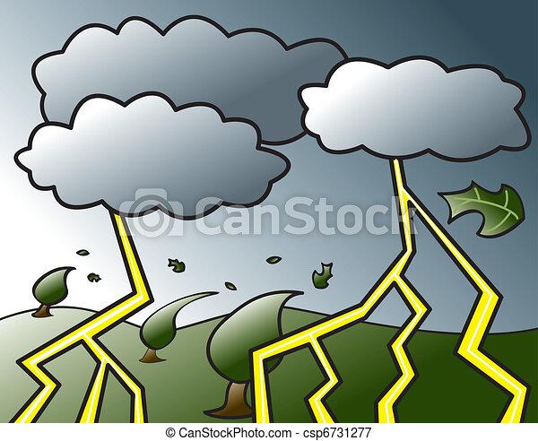 orage, venir - csp6731277
