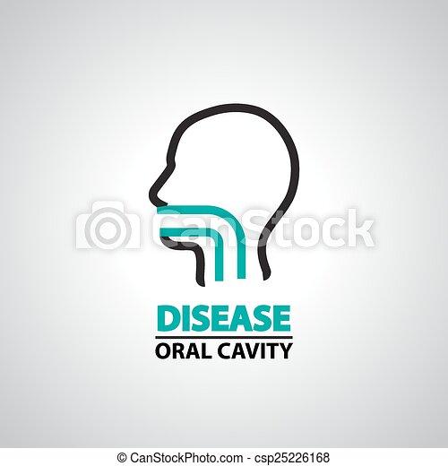 oral cavity icon and symbol - csp25226168