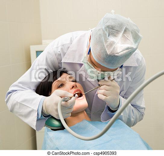 Oral checkup - csp4905393
