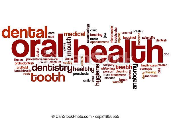 Oral health word cloud - csp24958555