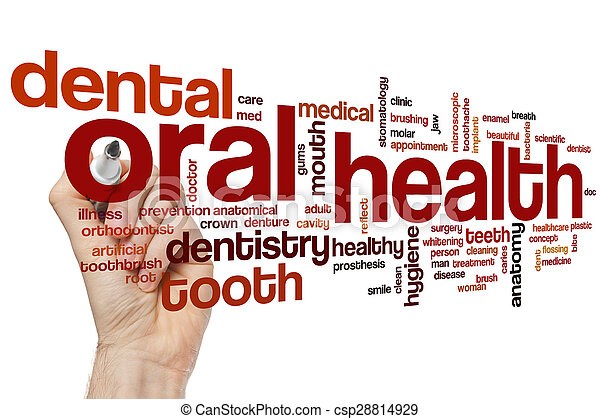 Oral health word cloud - csp28814929