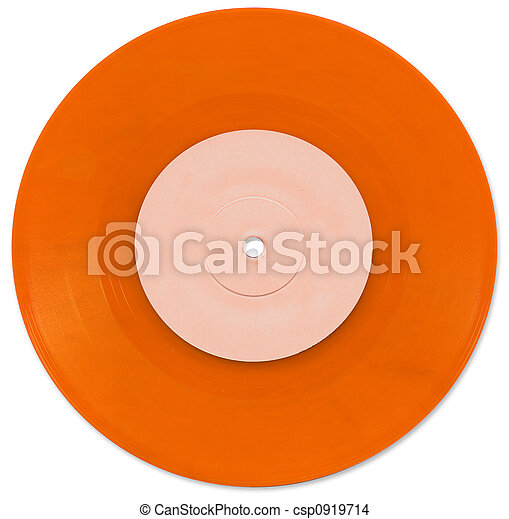 Orange 7 inch Vinyl Single - csp0919714