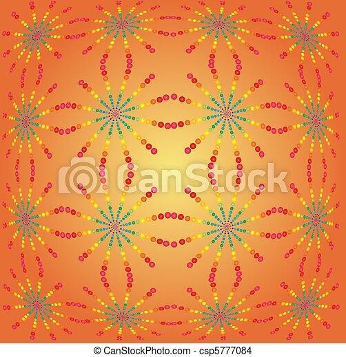 Orange abstract background  - csp5777084