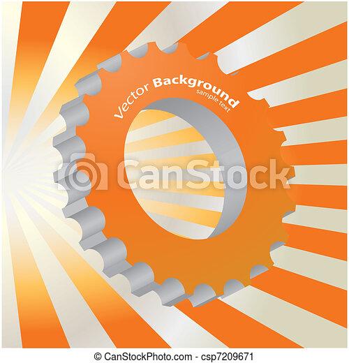 orange abstract background - csp7209671