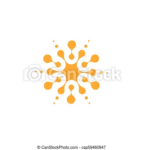 Orange Abstract Round Shape From Circles Universal Logo Template Isolated Icon Vector Illustration On White Background