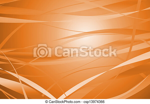 Orange abstract with lines background - csp13974366