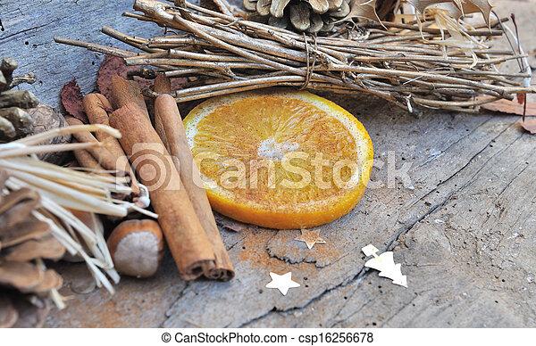 orange and cinnamon for Christmas - csp16256678