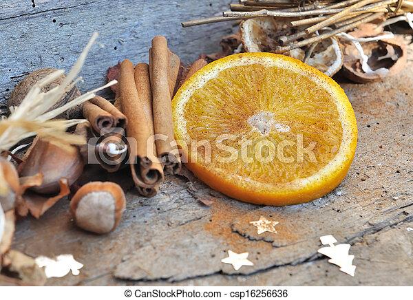 orange and cinnamon for Christmas - csp16256636