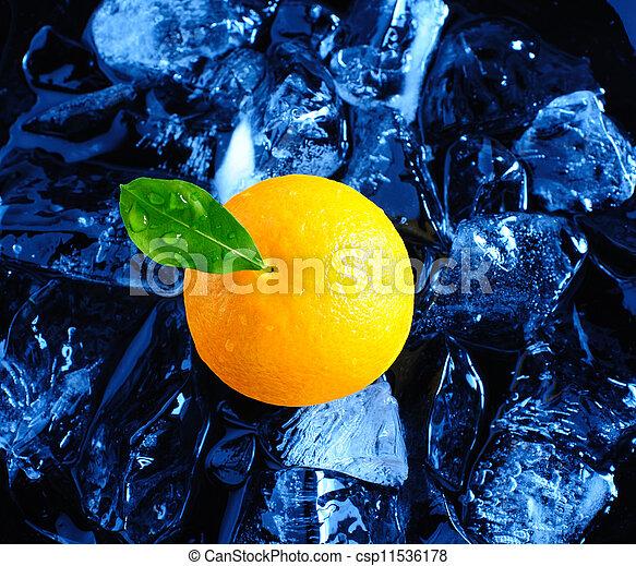 Orange and ice - csp11536178