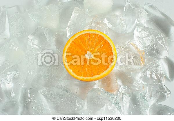 Orange and ice - csp11536200