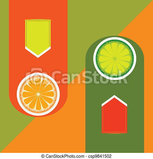 Orange and Lime - csp9841502