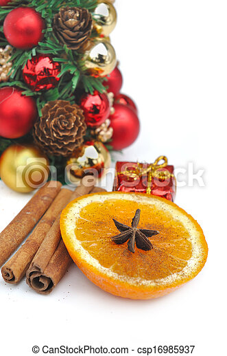 orange and spices for celebration - csp16985937