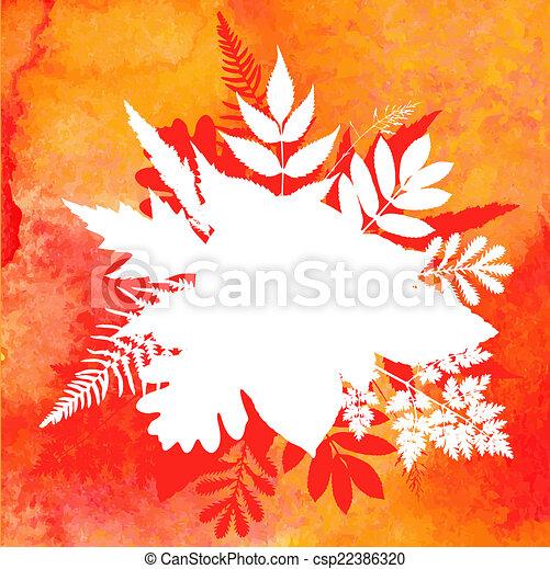 orange, aquarelle, peint, vecteur, unité administrative - csp22386320