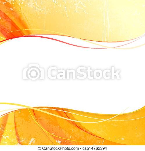 orange, arrière-plan., couverture, fumée, jaune - csp14762394