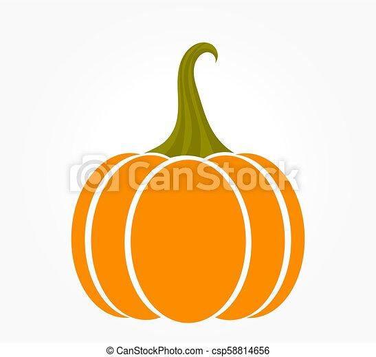 Orange autumn pumpkin icon - csp58814656