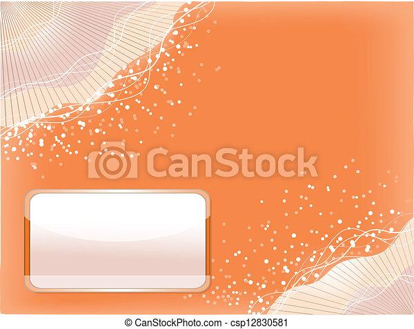 Orange background with lines - csp12830581