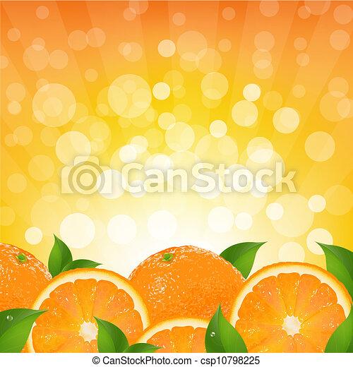 Orange Background With Orange Sunburst - csp10798225