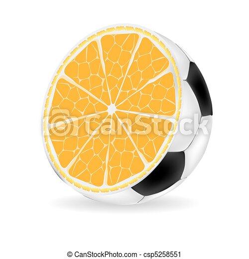 Orange ball vector illustration - csp5258551
