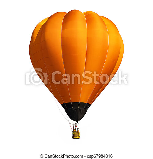 orange, balloon, blanc, isolé, fond - csp67984316