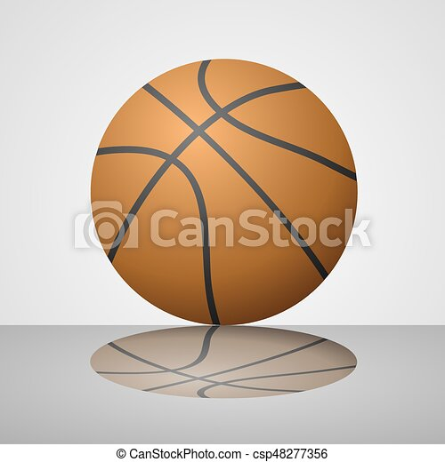 creative design of orange basket ball with reflection clipart vector rh canstockphoto com basketball court clipart basket ball clip art