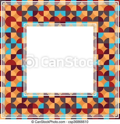 orange blue abstract border csp36866610