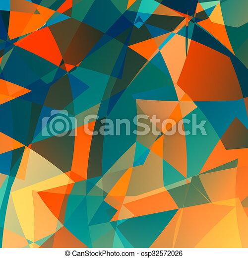 Orange Blue Poly Background