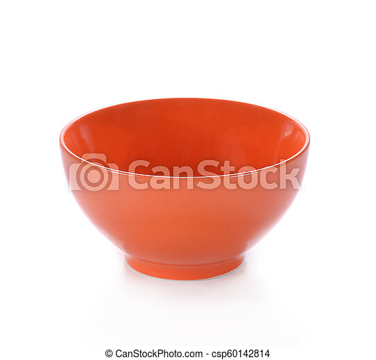 Orange Bowl on white background - csp60142814