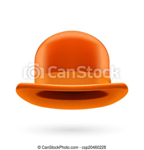 Orange bowler hat - csp20460228