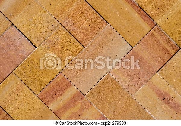 Orange Brick Work (1) - csp21279333