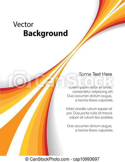 Orange Brochure Background - csp10993697