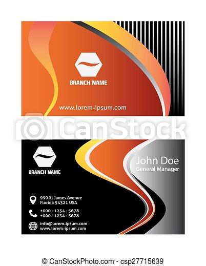 Orange business card design orange business card design csp27715639 reheart Gallery