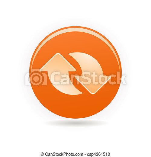 orange button - csp4361510