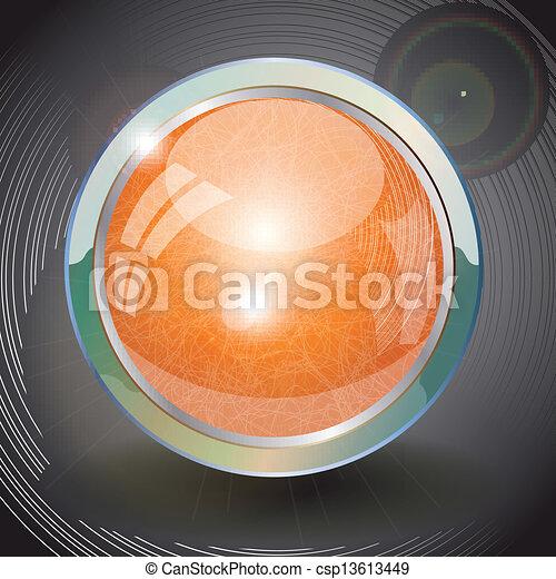 Orange button. - csp13613449