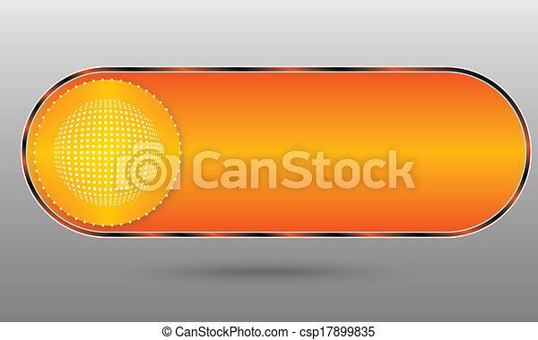 orange button - csp17899835