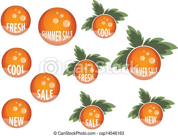 Orange button set - csp14546163