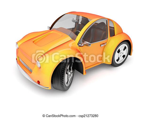 Orange car - csp21273280