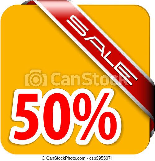 Orange card for big discount - csp3955071