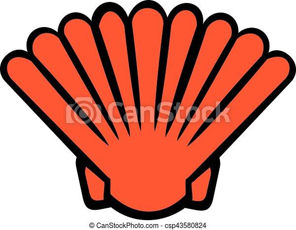 Orange cartoon shell - csp43580824
