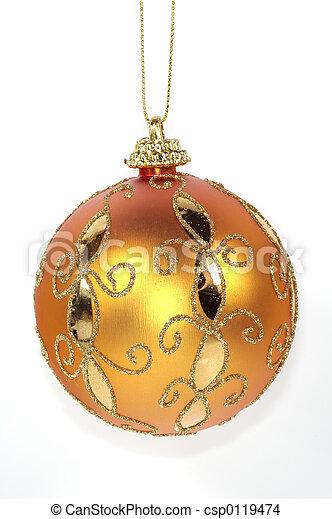Orange Christmas Ornament - csp0119474