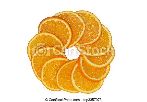 orange circle - csp3357973