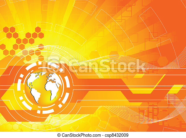 orange, clair, vecteur, fond - csp8432009