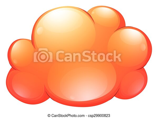 Orange cloud on white - csp29900823