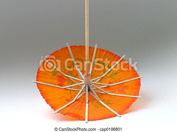 orange cocktail umbr - csp0198801